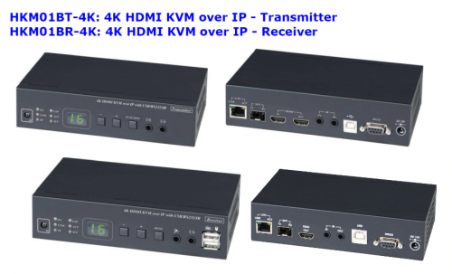 KVM-over-IP 4K Ultra-HD HDMI / USB 2.0 / Audio / RS232 / IR -- Receiver bis 150 m (IP/CAT), SC&T HKM01BR-4K