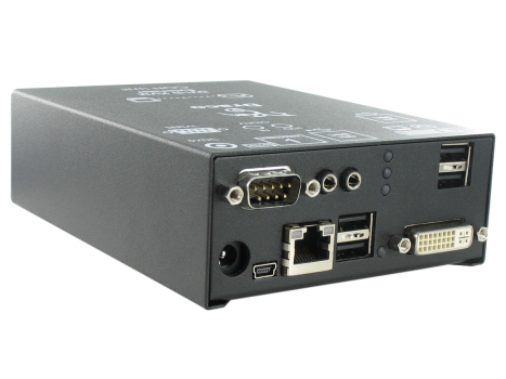 Ihse R477-1S4CA DVI-D Single-Link / 4x USB-HID / analog Audio - Draco compact CON-Unit, CATx bis 140 m