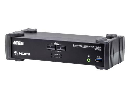 TESmart Doppel Monitor KVM DP+HDMI Switch,4K Ultra HD mit 3840 x 2160 bei 60 Hz 4:4:4; unterst/ützt USB 2.0 Ger/ätebedienung bis max 2 Monitore und 2 Computer//Server//DVR mit 2 St/ück 5ft HDMI KVM Kabeln