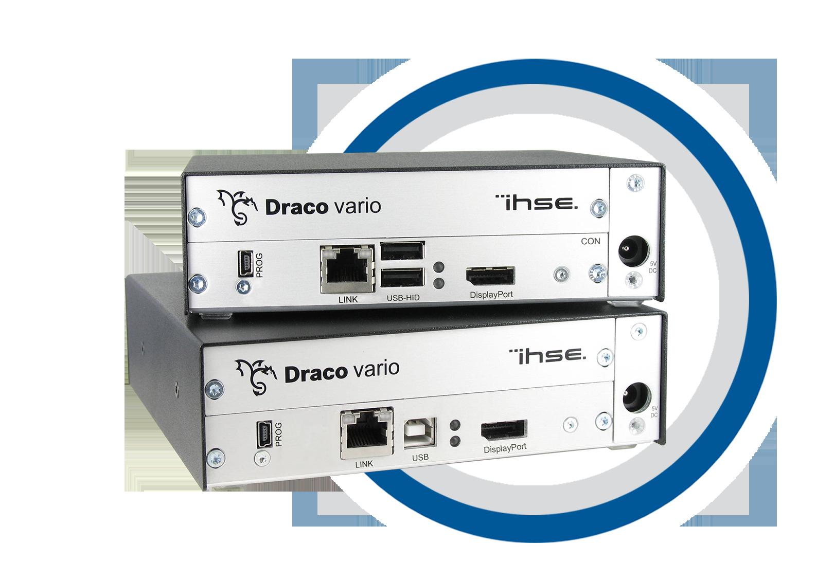 Draco Vario CON-Unit, Cat X, 1 Monitor DisplayPort Single Link and USB-HID  - R483-1PHC